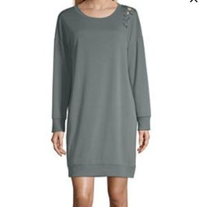 Xersion long sleeve t-shirt dress